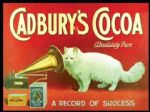 LARGE Cadburys Cocoa Cat Metal Steel Plaque Sign